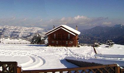 Ξενώνας Αίολος. Στα πανέμορφα Τρίκαλα Κορινθίας, στη κάτω συνοικία, σε υψόμετρο 1000 μέτρων, σε κτήμα 2.5 στρεμμάτων, σας περιμένη ενα όμορφο ξύλινο ειδυλλιακό περιβάλλον. Απολαύστε ρομαντικές στιγμές με την συντροφιά σας, ένα κρασί από την πλούσια κάβα και τις ήρεμες φλόγες από το τζάκι, αγναντεύοντας τον κορινθιακό κόλπο, τις βουνοκορφές της Ζήρειας αλλά και του Παρνασσού...